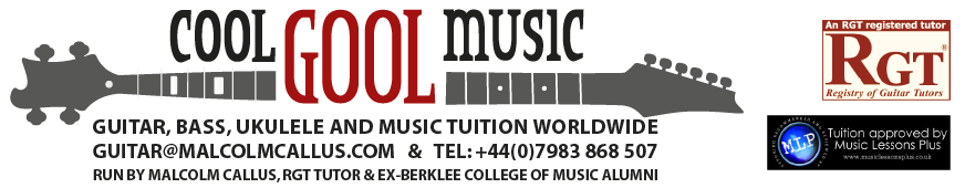 1-2-1/ group/ online music, bass guitar, ukulele & guitar lessons London & skype worldwide
